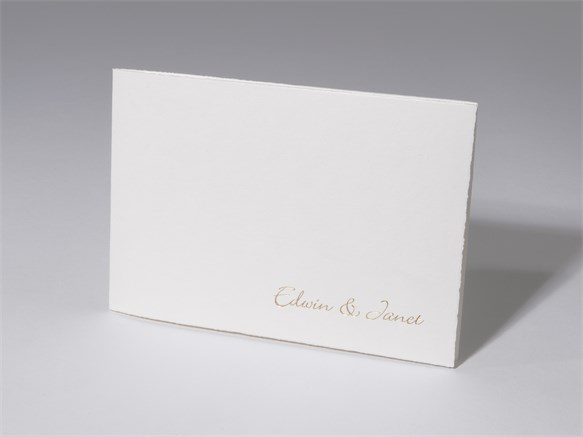 48 1002 Hochzeitskarte Weiss Butten Papier 48 1002