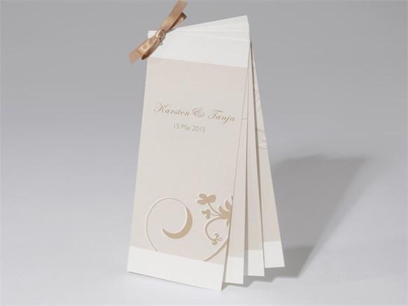 48 1560 Hochzeitskarte Ornamente 4 Teilig Mit Schleife 48 1560