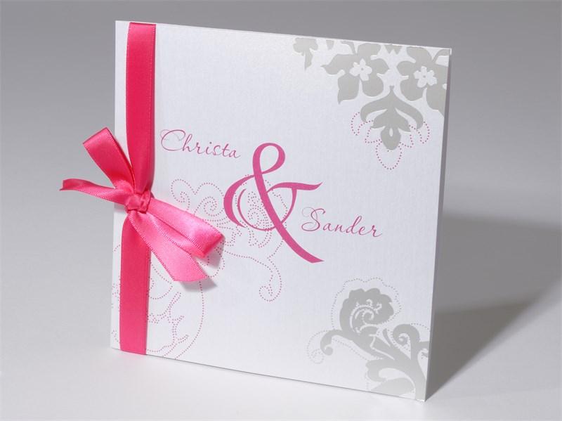 48 1463 Hochzeitskarte Ornamente Und Zeichen Pink Und