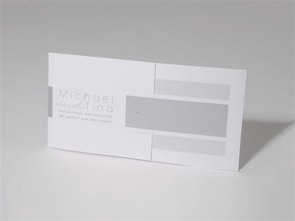 60 1594 Grau Diamant Namen Mix Match Hochzeitskarten