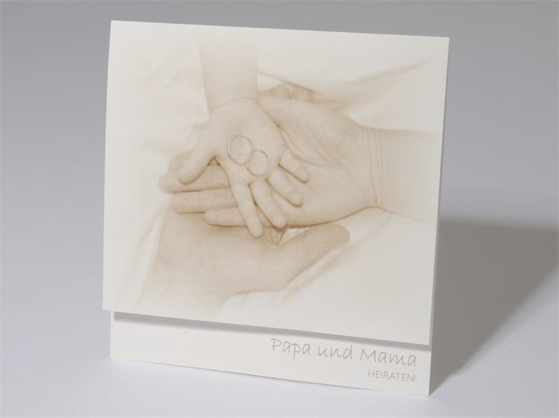 60 1490 Papa Und Mama Hochzeitskarte Hande Ringe Hochzeitskarten